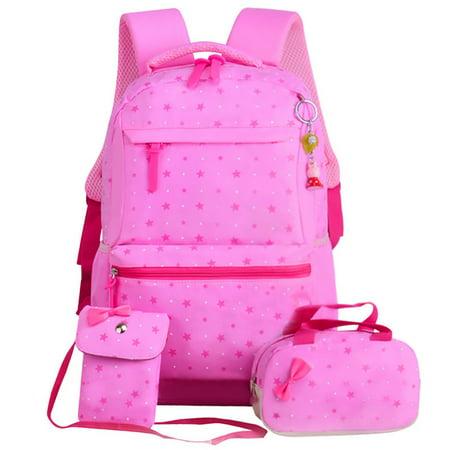Bocgsfdfgns 3PCS/set Backpack Kid Children Primary Waterproof School Book Bag Rucksack Double Shoulder Bag