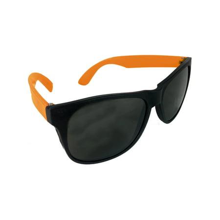 Cheesy Retro 80s Neon Orange & Black Costume Sunglasses - Neon Retro Sunglasses