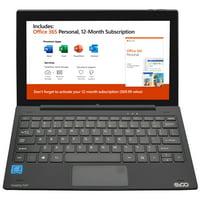 "EVOO 11.6"" Tablet with Keyboard, Full HD, Intel Processor, 32GB Storage, Windows Ink(Smart Stylus Included), Micro HDMI, Dual Cameras, Windows 10 Home"
