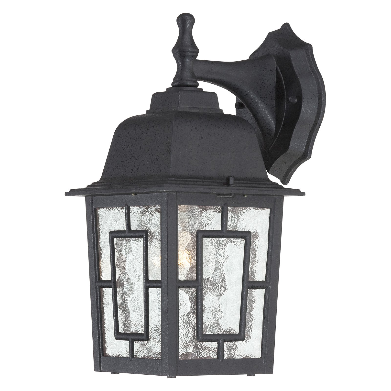 Nuvo Lighting 60/4923 Banyon Single-Light Wall Lantern with Clear Water Glass Pa