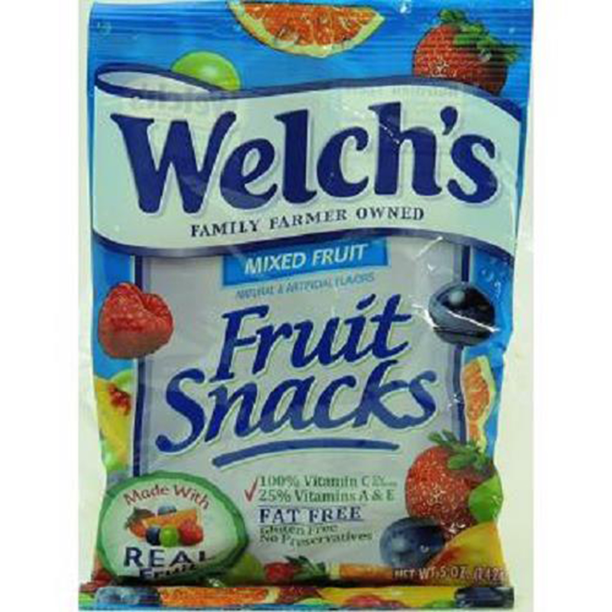 Welchs Mixed Fruit Fruit Snacks, 5-Ounce (Pack of 12)