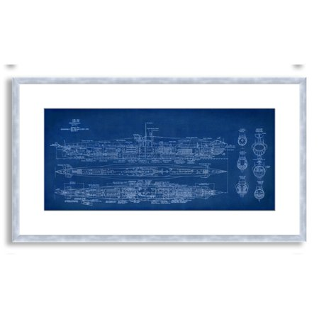Gallery direct st johns submarine blueprint framed paper art gallery direct st johns submarine blueprint framed paper art medium malvernweather Images