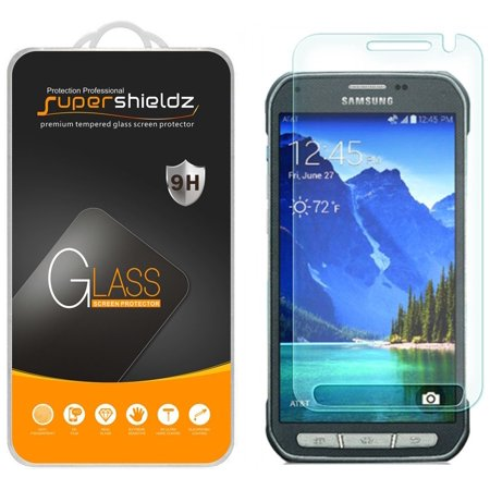 [2-Pack] Supershieldz for Samsung Galaxy S6 Active Tempered Glass Screen Protector, Anti-Scratch, Anti-Fingerprint, Bubble