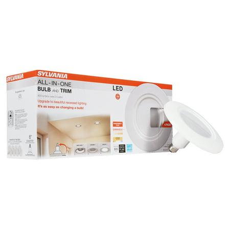 Sylvania 65W Equivalent LT6 BR30 Retrofit LED Light Bulb, Dimmable, Soft White, 4-Pack (Par Retrofit)