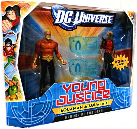 "DC UNIVERSE YOUNG JUSTICE JLU aqualad  ACTION FIGURE 4/"""