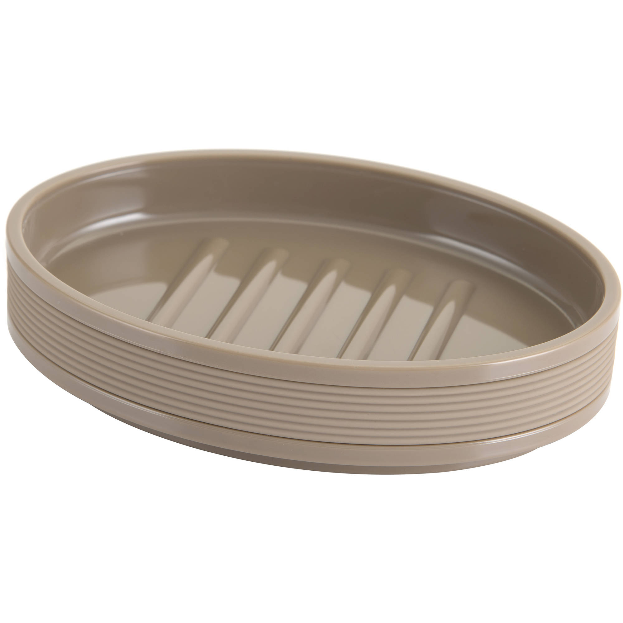 Mainstays Soft Touch White Soap Dish, 1 Each
