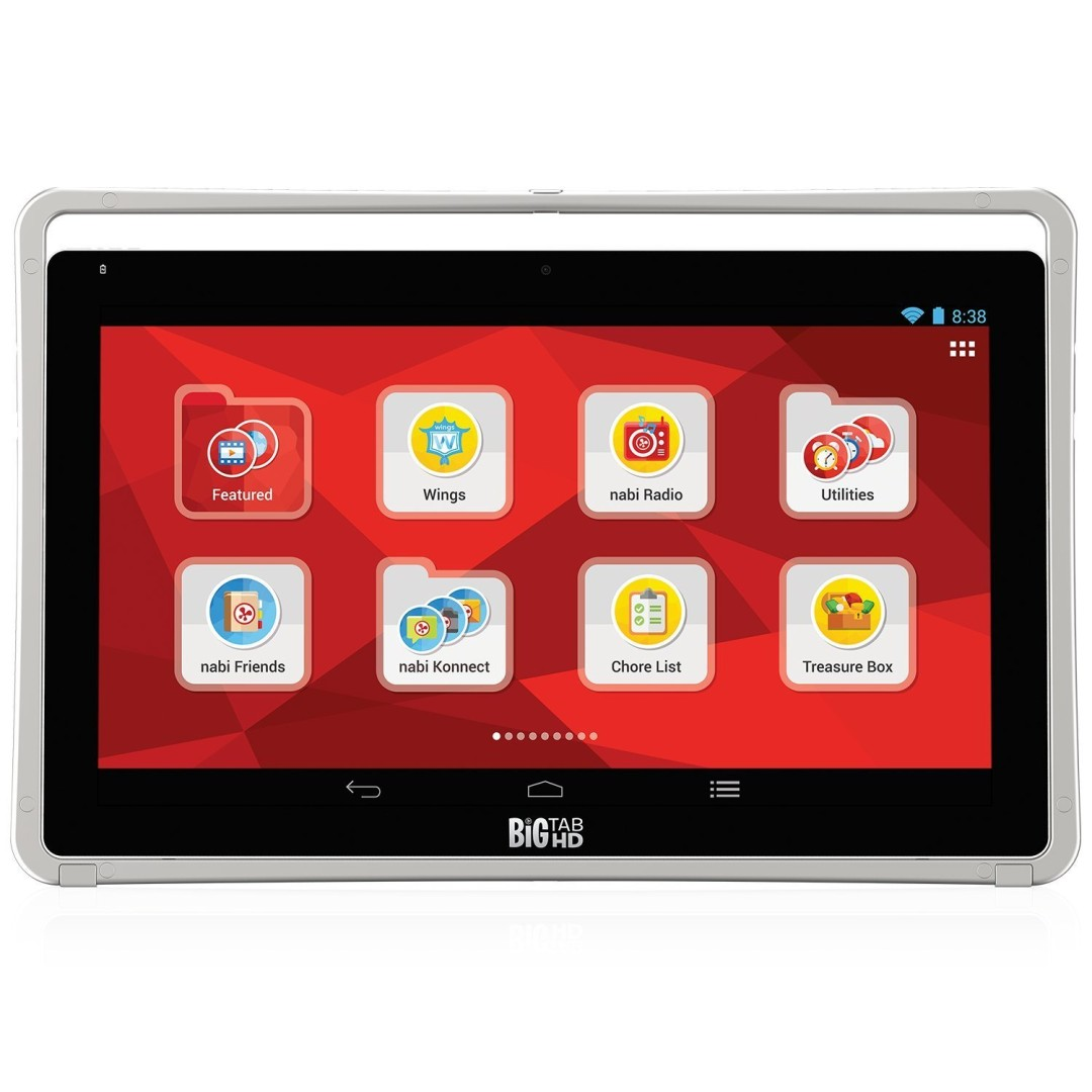 "nabi Big Tab HD Tablet 20"" Wi-Fi Bluetooth Android 16GB Silver"