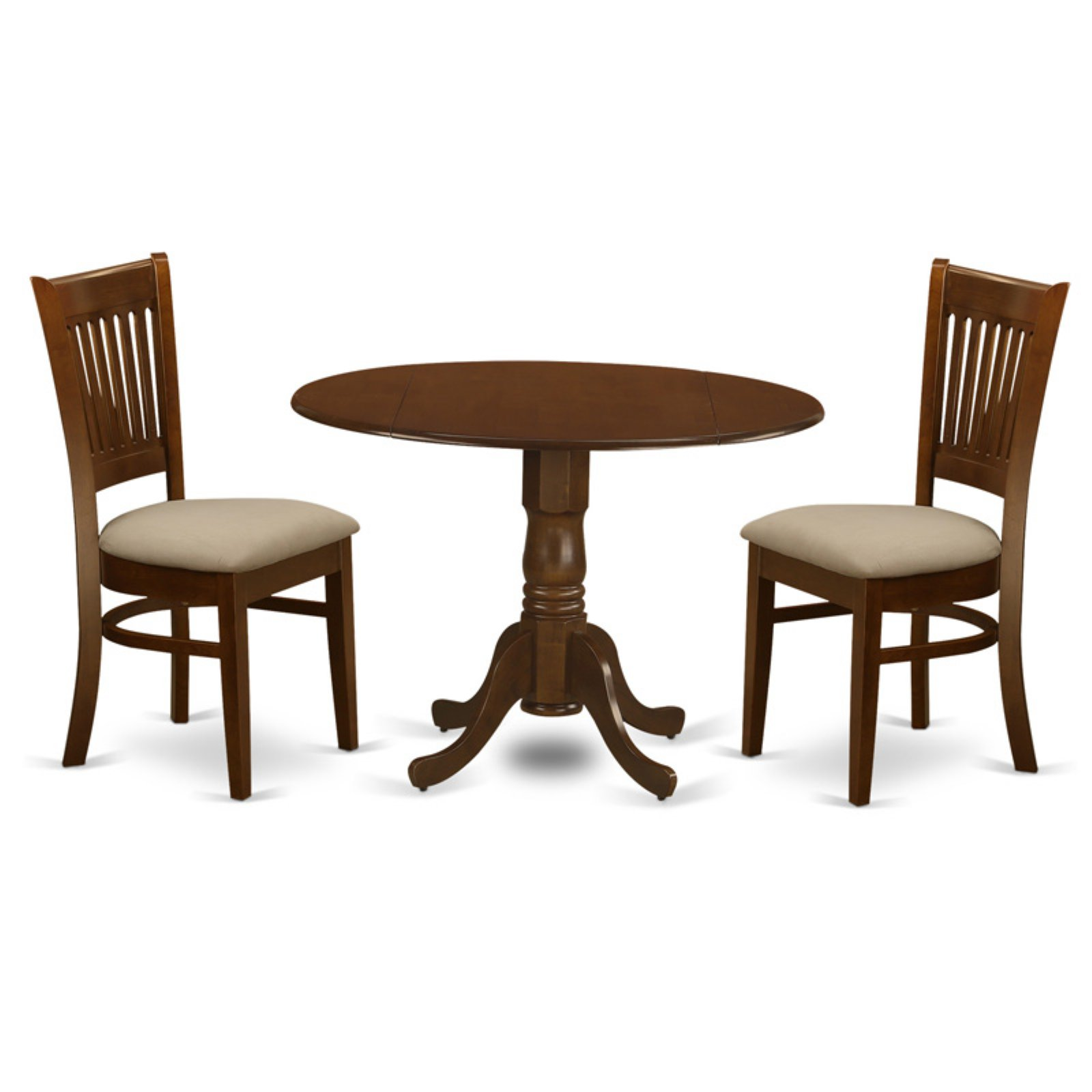 East West Furniture 3 Piece Empire Drop Leaf Dinette Dining Table Set