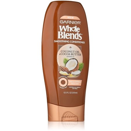 Cocoavia Cocoa Extract (2 Pack - Garnier Whole Blends Smoothing Conditioner, Coconut Oil & Cocoa Butter extracts 12.5 oz )
