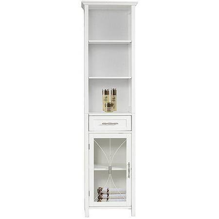 Napoleon Linen Tower With One Door And Three Open Shelves