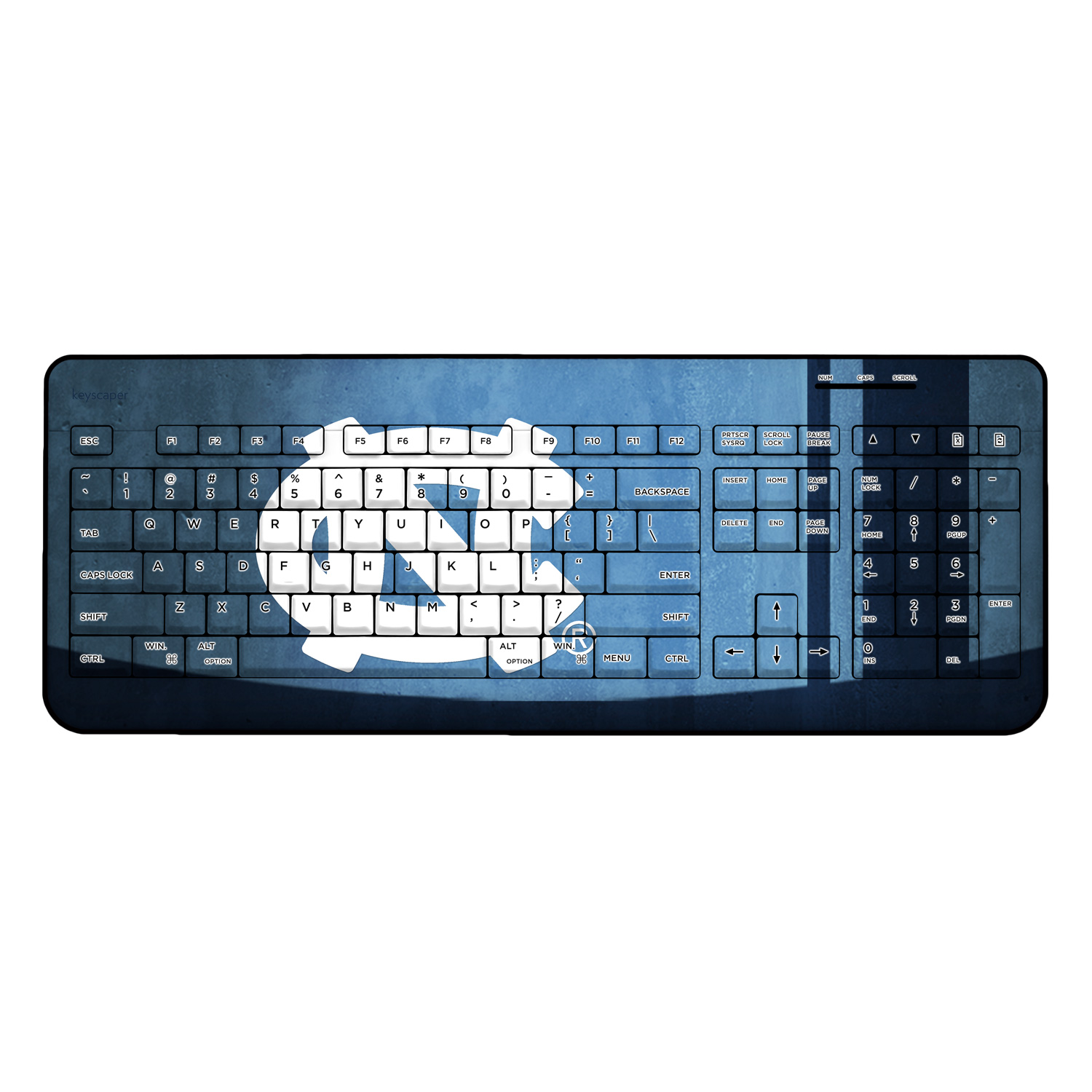 North Carolina Tar Heels Wireless USB Keyboard NCAA