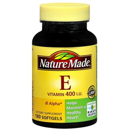 Nature Made Dl Alpha Vitamin E 400 Iu Softgels 180 Soft Gels