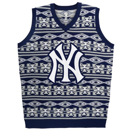 """New York Yankees MLB Mens """"Aztec Print"""" Ugly Sweater Vest by"""