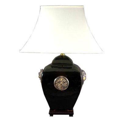 Oriental Furniture 26 Inch Square Jar Lamp