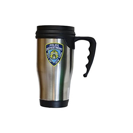 NYPD Travel Mug Officially Licensed New York Police Coffee Cup Stainless Steel by NYC (Best Mall In Nyc)