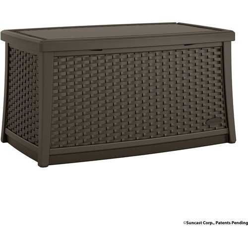 Suncast Elements Resin Patio Storage Coffee Table, Java