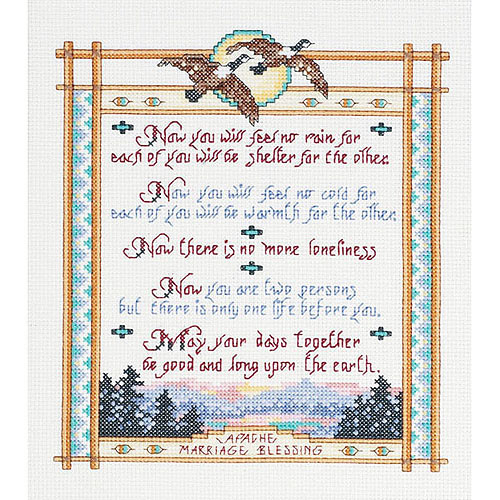"Apache Wedding Blessing Counted Cross-Stitch Kit, 8"" x 10"", 14-Count"