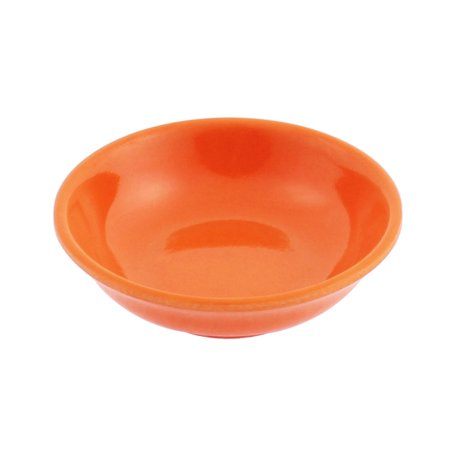 Unique Bargains Round Shape Soy Sauce Dipping Sushi  Dish Plate Orange