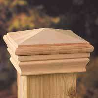 Maine Ornamental 72889 High-Point Post Cap, 3-1/2 x 3-1/2 in Post/Joist, 4 in L, 4 in (Ornamental Post Caps)