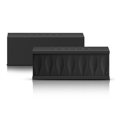 Photive CYREN Portable Wireless Bluetooth Speaker with Built-in Microphone. Outdoor, Indoor, Home, and Office Portable Wireless Speaker – Black