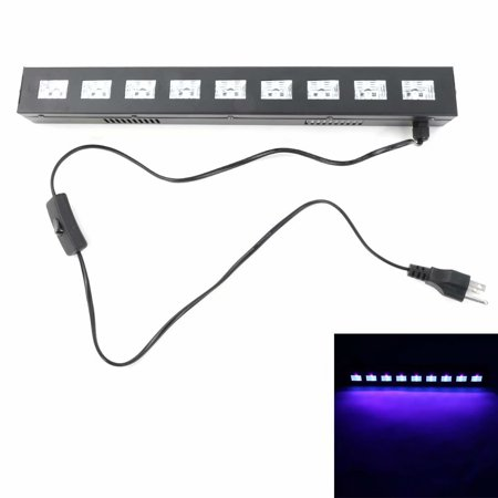 Black Light, 27W 395nm UV LED Bar Glow in The Dark Party Supplies for  Blacklight Party Birthday Wedding Stage Dance Floor Lighting