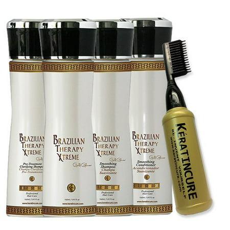 Brazilian Therapy BTX Keratin Cure Blowout Blonde Hair Capilar Tratamiento B0t0x Treatment 5 oz 6 piece Kit 160 ML