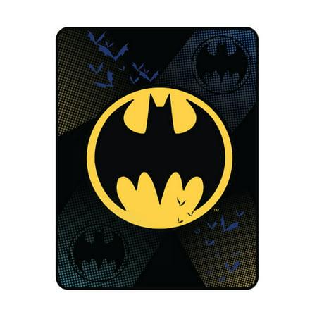 Batman Plush Throw, Kids Bedding, 46 x 60, Night Escape