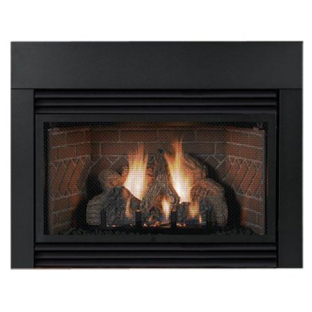 Contemporary steel surround for 25000 btu fireplace insert for Contemporary fireplace insert