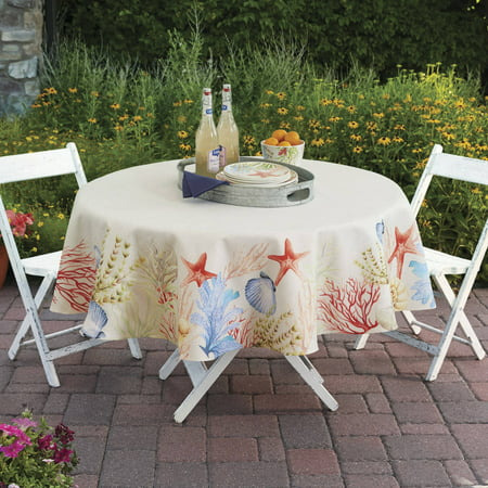 Better Homes And Gardens Sealife Tablecloth 70 Round