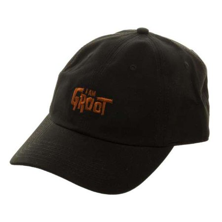 Marvel Guardians of the Galaxy I Am Groot Embroidered Dad Hat Apparel (Sam I Am Hat)