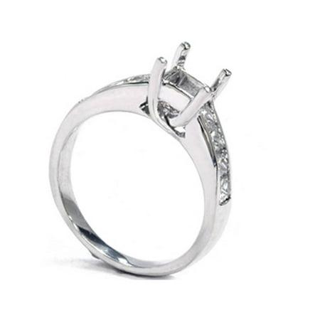 1ct Princess Cut Diamond Cathedral Engagement Ring Setting