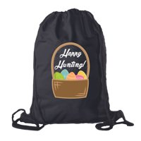 Easter Basket Backpack Bulk Cotton Drawstring Cinch Bags Easter Bunny Gift Bags - Basket