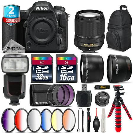 Nikon D500 DSLR Camera + AFS 18-140mm VR + Pro Flash + 9PC Filter Kit +