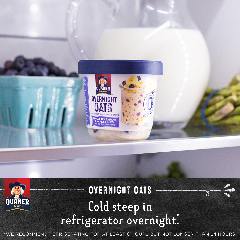 ddc24d324c13 Quaker Overnight Oats Blueberry Banana & Vanilla Bliss, 2.29 OZ -  Walmart.com