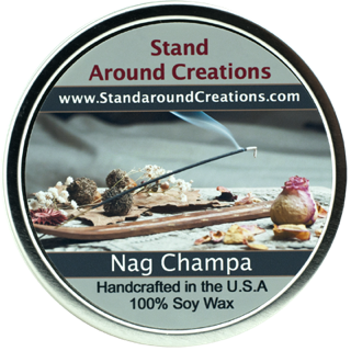 NAG CHAMPA TIN 16-OZ. ALL NATURAL SOY CANDLE