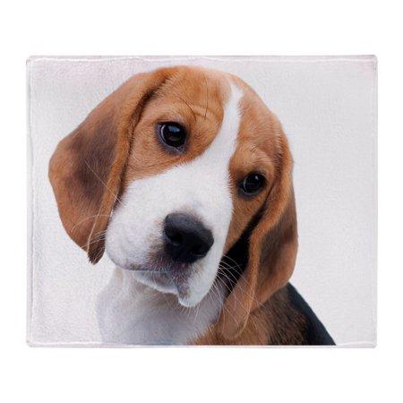 "CafePress - Cute Beagle Puppy - - Soft Fleece Throw Blanket, 50""x60"" Stadium Blanket"