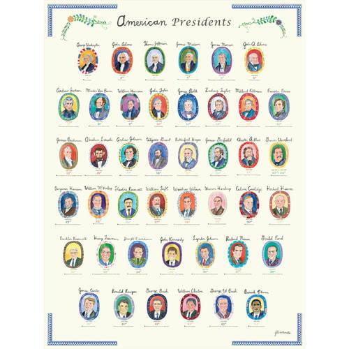 Oopsy Daisy - American Presidents Canvas Wall Art 18x24, Jill McDonald