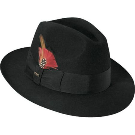 SCALA - Scala Classico Men s Black Wool Felt Fedora Hat - Walmart.com c4fb4a47e28
