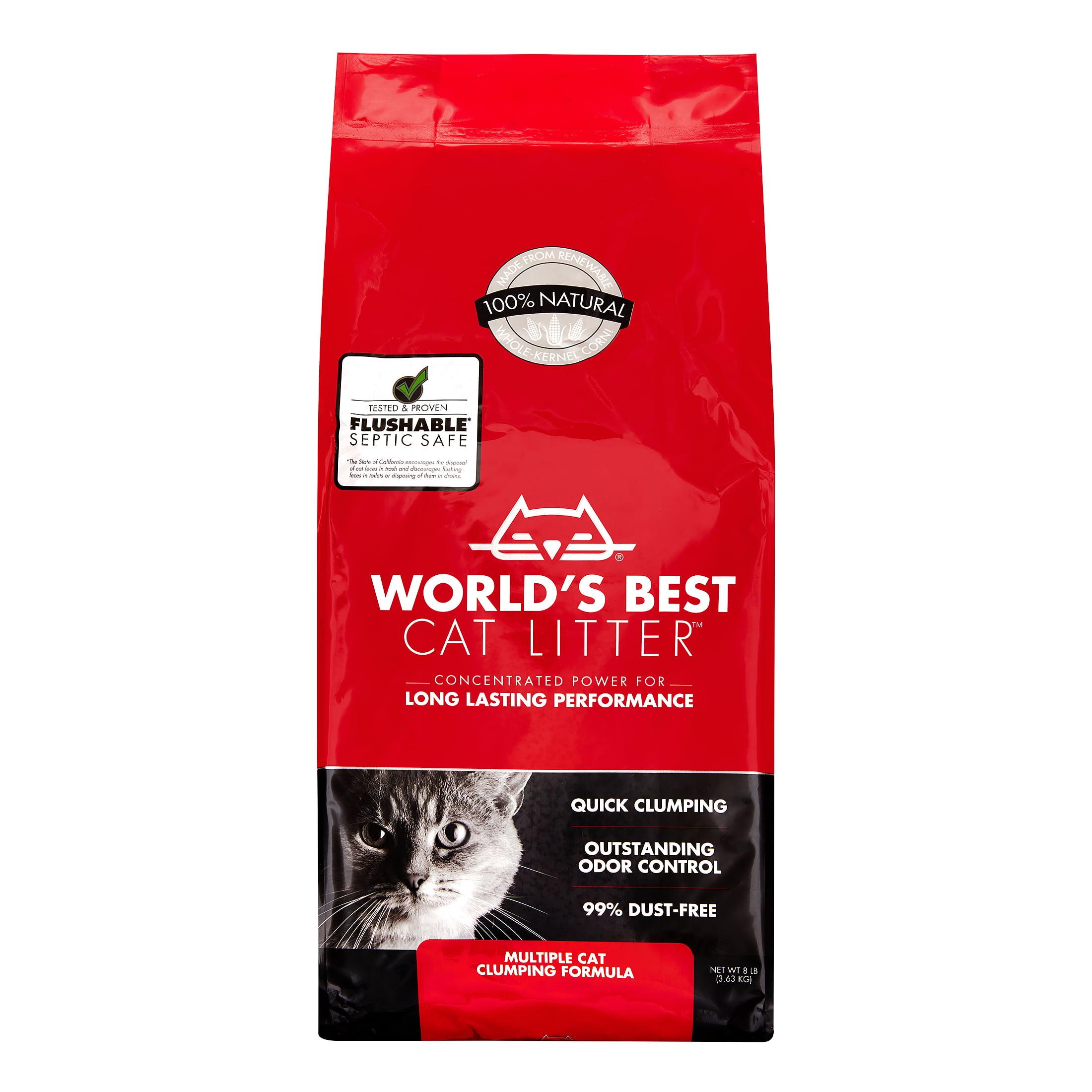 World's Best Cat Litter Multi-Cat Clumping Cat Litter Formula, 8 Lb.