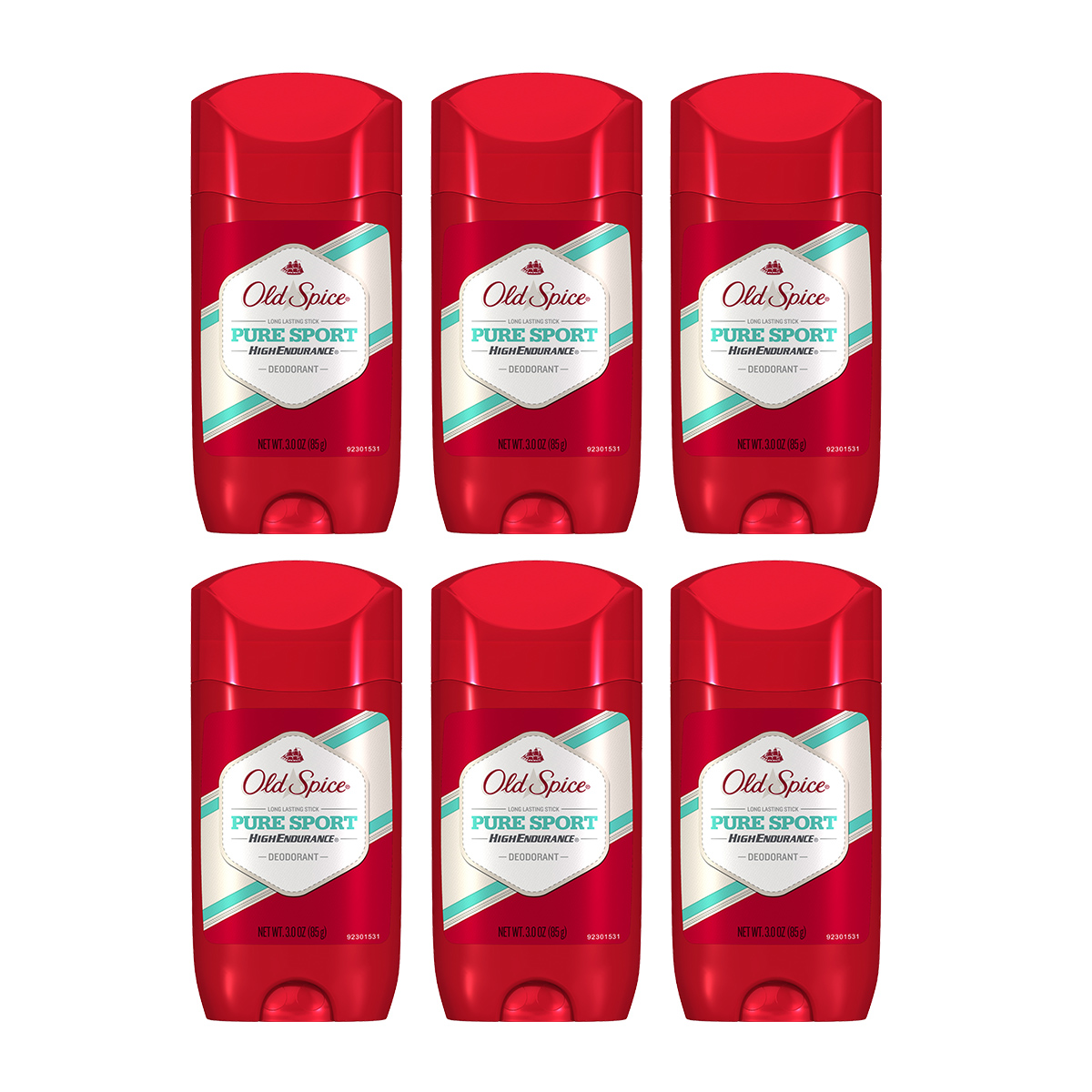 (6 Count) Old Spice High Endurance Pure Sport Antiperspirant and Deodorant 3 oz