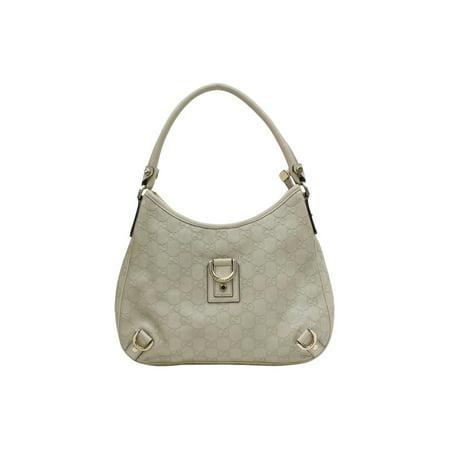 Ivory Guccissima D Ring Hobo 868308 Cream Leather Shoulder Bag