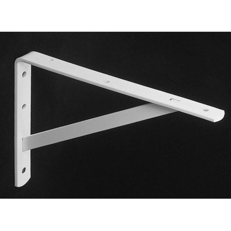 Knape And Vogt 208Wh400 16   White Heavy Duty Shelf Brackets