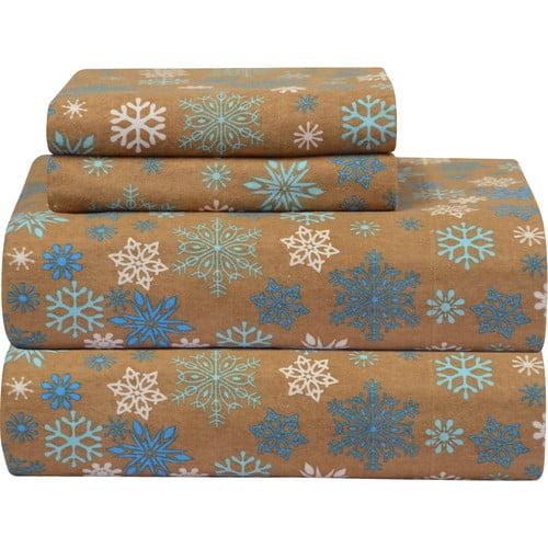 Pointehaven Heavy Weight Printed Flannel Sheet Set