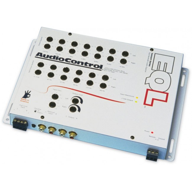 AudioControl EQL 2-Channel Trunk Mount Dual Bandwidth Graphic Equalizer by AudioControl