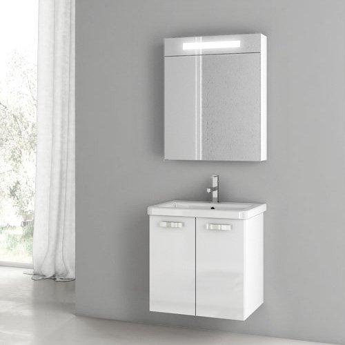 ACF by Nameeks ACF CP03-GW City Play 22-in. Single Bathroom Vanity Set - Glossy White