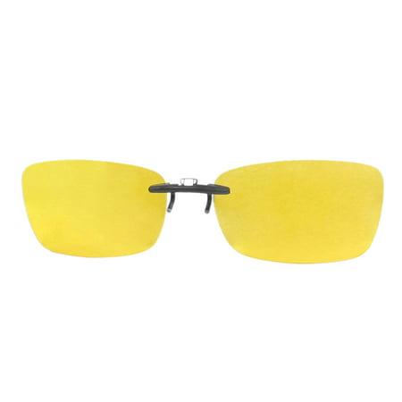 Women Men Clear Yellow Polarized Lens Clip On Regular Specs (Polarized Or Regular Sunglasses)