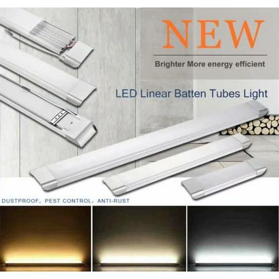 LED Batten Linear Slimline Ceiling Tube Light Surface Mounted