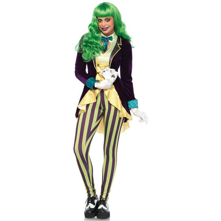 Leg Avenue Women's Evil Trickster Villain Costume - Villain Couple Costumes