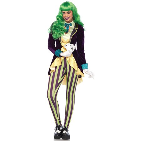 Leg Avenue Women's Evil Trickster Villain Costume (Super Villian Costumes)