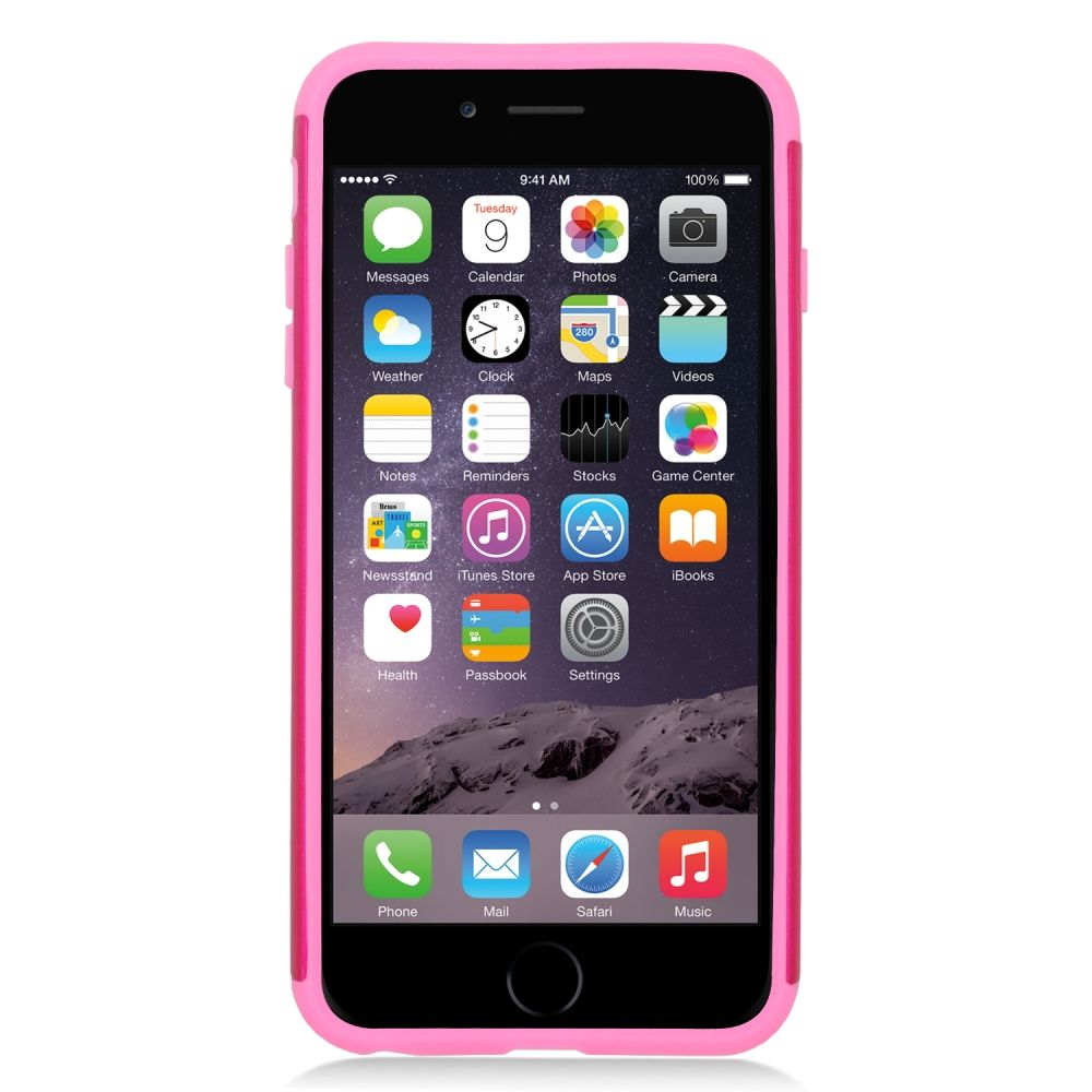 Insten Hard Dual Layer Rubber Silicone Case For Apple iPhone 6s Plus / 6 Plus - Hot Pink/Pink - image 1 de 3